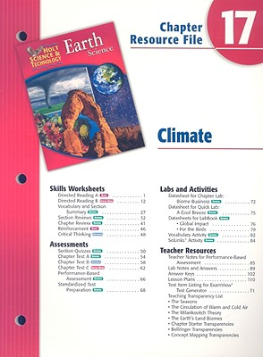 Image for Holt Science & Technology Earth Science Chapter 17 Resource File: Climate