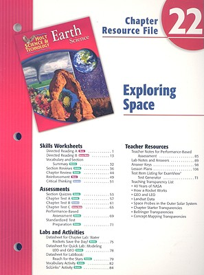 Image for Holt Science & Technology Earth Science Chapter 22 Resource File: Exploring Space