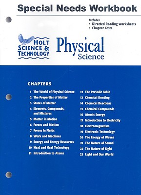Image for Holt Science & Technology: Physical Science: Special Needs Workbook