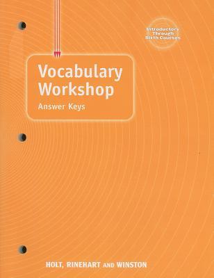 Image for Elements of Language: Vocabulary Workshop Answer Keys