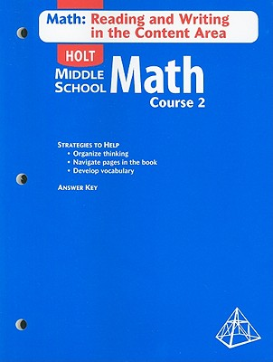 Image for Math Course 2, Grade 7 Math-reading and Writing in the Content Area With Answer Key: Holt Mathematics
