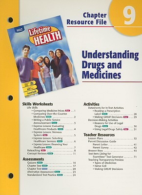 Image for A Lifetime of Health Chptr. 9 : Understanding Drugs [Paperback]  by