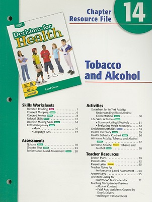 Image for Holt Decisions for Health Chapter 14 Resource File: Tobacco and Alcohol