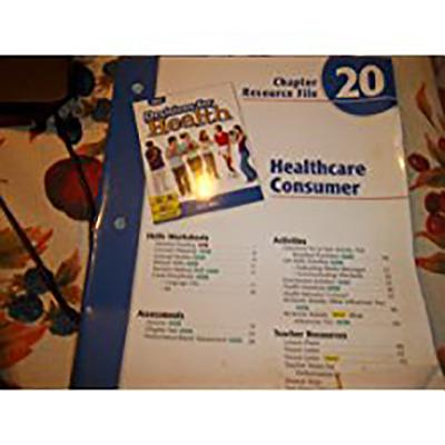 Image for Decisions for Health: Chapter Resource File Level Blue Chapter 20 Healthcare Consumer