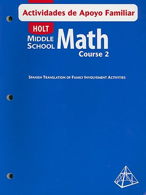 Image for Holt Middle School Math Actividades de Apoyo Familiar, Course 2 (Spanish Edition)