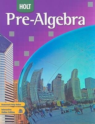Image for Holt Pre-Algebra