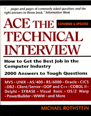 Image for ACE THE TECHNICAL INTERVIEW