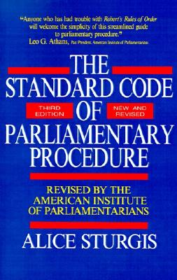 Image for Standard Code of Parliamentary Procedure