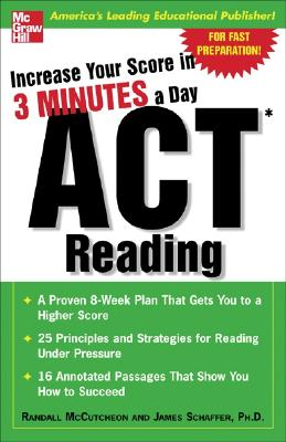 Image for Increase Your Score In 3 Minutes A Day: ACT Reading