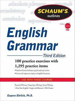 Schaum's Outline of English Grammar, Ehrlich, Eugene
