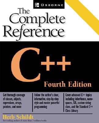C++: The Complete Reference, 4th Edition, Schildt, Herbert