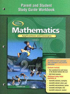 Image for Mathematics: Applications and Concepts, Course 3, Parent and Student Study Guide Workbook