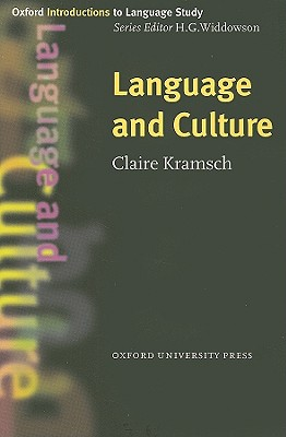 Image for Language and Culture (Oxford Introductions to Language Study)