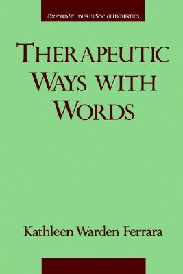 Image for Therapeutic Ways With Words