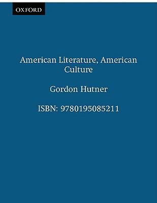 Image for American Literature, American Culture