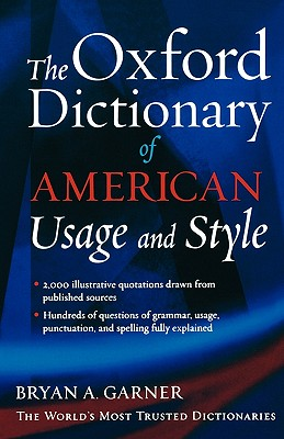 Image for The Oxford Dictionary of American Usage and Style