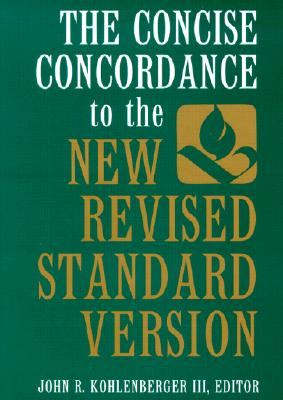 Image for The Concise Concordance to the New Revised Standard Version