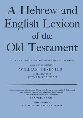 Image for A Hebrew and English Lexicon of the Old Testament