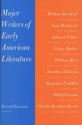 Image for Major Writers of Early American Literature
