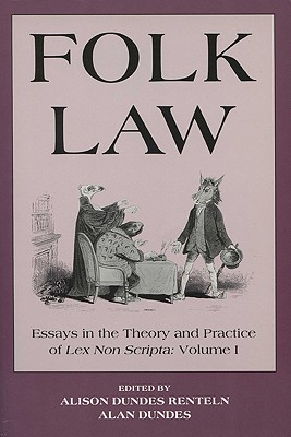Image for Folk Law: Essays in the Theory and Practice of Lex Non Scripta (2 Volumes)