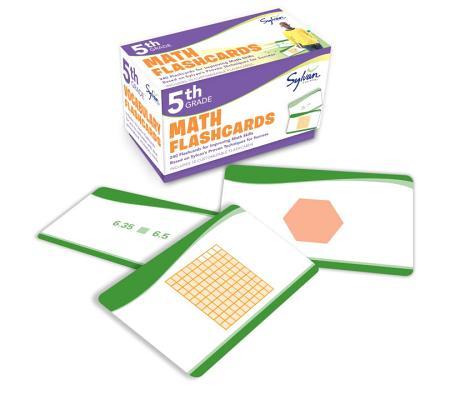 5th Grade Math Flashcards: 240 Flashcards for Improving Math Skills Based on Sylvan's Proven Techniques for Success (Sylvan Math Flashcards), Sylvan Learning
