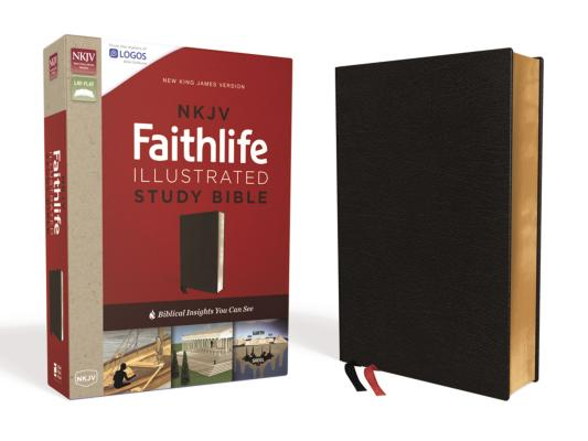 Image for NKJV, Faithlife Illustrated Study Bible, Premium Bonded Leather, Black, Red Letter Edition: Biblical Insights You Can See