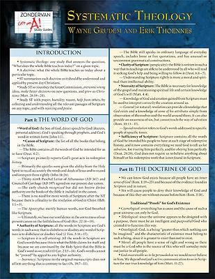 Systematic Theology Laminated Sheet (Zondervan Get an A! Study Guides), Wayne Grudem, Erik Thoennes