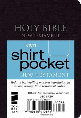 Image for NIV, Shirt-Pocket New Testament, Leather-Look, Black