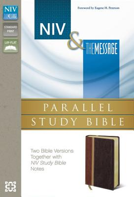 "Image for ""NIV, The Message, Parallel Study Bible, Imitation Leather, BrownRed: Two Bible Versions Together w"""