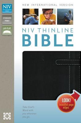 "Image for ""NIV Thinline Bible (Black, Italian Duo-Tone)"""