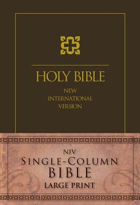 NIV, Single-Column Bible, Large Print, Hardcover, Brown, Zondervan