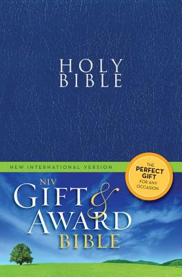 """Image for """"Gift and Award Bible (NIV, Blue Leather-Look, Velva-Silver Page edges)"""""""