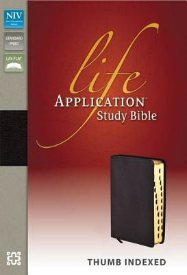 """Image for """"NIV Life Application Study Bible, Bonded Leather, Burgundy, Indexed"""""""