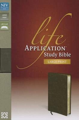 Image for NIV, Life Application Study Bible, Second Edition, Large Print, Bonded Leather, Brown