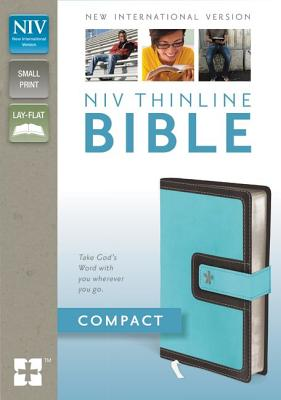 "Image for ""NIV Compact Thinline Bible (TurquoiseChocolate Italian Duo-Tone, Gilded-Silver Page Edges, Magneti"""