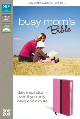 NIV, Busy Mom's Bible, Imitation Leather, Pink/Pink, Lay Flat: Daily Inspiration Even If You Only Have One Minute, Zondervan (Author)