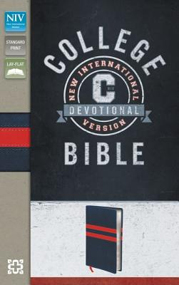 "Image for ""College Devotional Bible (NIVText, NavyRed, Silver Gilded-Pages, Italian Duo-Tone)"""