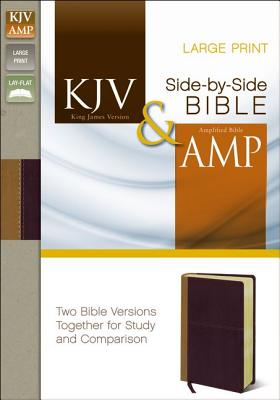 """Image for """"KJV and Amplified Side-by-Side Bible, Italian Duo-Tone, Camel/Rich Red, Large Print"""""""