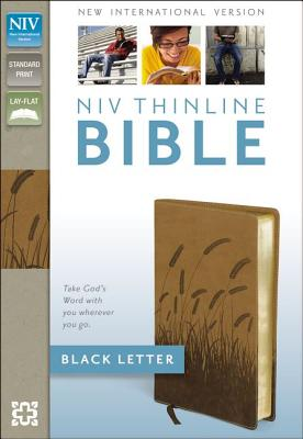 "Image for ""NIV Thinline Bible (Toffee Italain Duo-Tone, Gilded-Gold Page Edges)"""