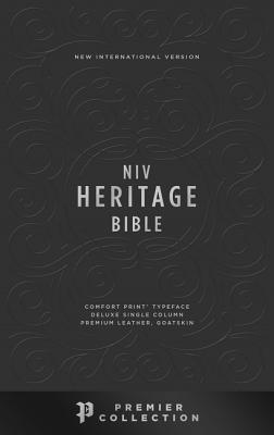 Image for NIV, Heritage Bible, Deluxe Single-Column, Premium Leather, Goatskin, Black, Premier Collection, Comfort Print