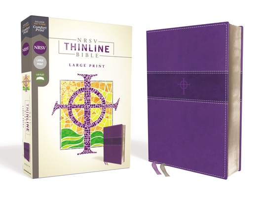 Image for NRSV, Thinline Bible, Large Print, Leathersoft, Purple, Comfort Print