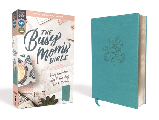 Image for NIV, The Busy Mom's Bible, Leathersoft, Teal, Red Letter Edition, Comfort Print: Daily Inspiration Even If You Only Have One Minute