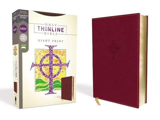 Image for NRSV, Thinline Bible, Giant Print, Leathersoft, Burgundy, Comfort Print