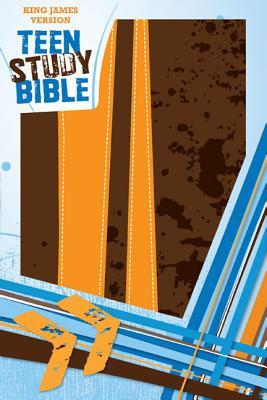 "Image for ""KJV, Teen Study Bible, Leathersoft, BrownOrange"""