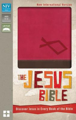NIV, The Jesus Bible, Imitation Leather, Pink/Brown, Red Letter: Discover Jesus in Every Book of the Bible, Zondervan (Author)