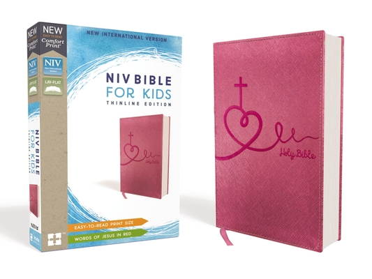 Image for NIV, Bible for Kids, Leathersoft, Pink, Red Letter Edition, Comfort Print: Thinline Edition