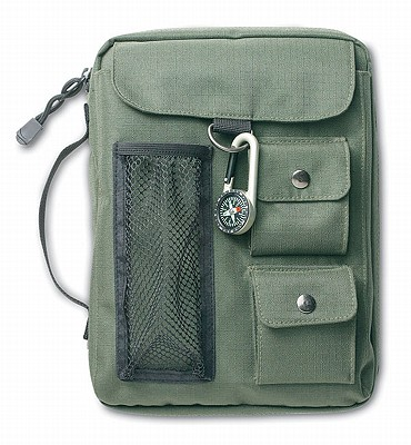 Image for 025986806613 Olive green bible cover w/Compass XL