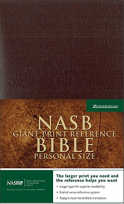 """Image for """"Personal Size Giant Print Reference Bible (Updated NASB, Burgundy Leather-Look)"""""""