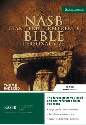 "Image for ""NASB Giant Print Reference Bible, Personal Size, Bonded leather, Black, Thumb-Indexed"""