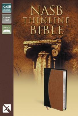 Image for NASB Thinline Bible Black/Tan Duotone